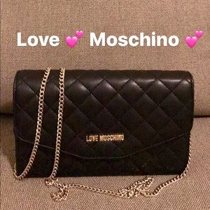 ❤️ Quilted flap chain logo WOC clutch strap party